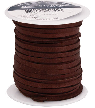 Realeather 50' Leather Lace Spool-Brown