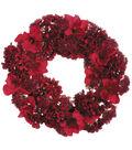 Christmas 28\u0027\u0027 Amaryllis, Hydrangea & Sedum Wreath-Red