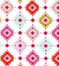Snuggle Flannel Fabric -Bright Tribal Aztec