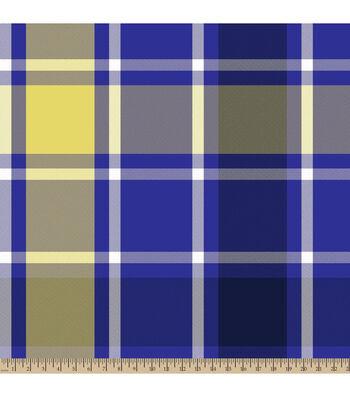 "3 Yard Pre-Cut Blizzard Fleece Fabric 59""-Bruno Plaid Purple"