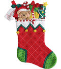 Bucilla Felt Stocking Applique Kit 18\u0022 Long-Holiday Teddy