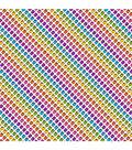Cricut 12\u0022x12\u0022 Patterned Premium Vinyl Sampler-Hello Kitty Rainbow