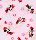 Disney Minnie Mouse Cotton Fabric 44\u0027\u0027-Floral Garden
