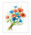 RIOLIS 6\u0027\u0027x7\u0027\u0027 Counted Cross Stitch Kit-Bouquet with Cornflowers