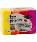 Van Aken Kato Polyclay 4 oz. Oven Hardening Set-Yellow, Orange & Red
