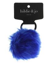 hildie & jo Pom Hair Tie-Blue, , hi-res