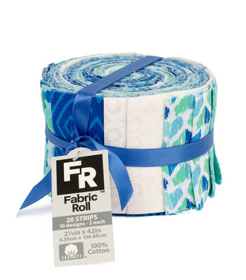 Jelly Roll Cotton Fabric Pack 2.5''x42''-Trend 1