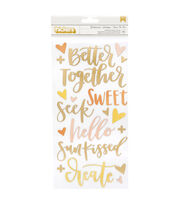 American Crafts Thicker Stickers-Goldenrod, , hi-res