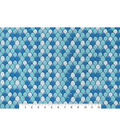 Snuggle Flannel Fabric 42\u0027\u0027-Aqua Mermaid Scales
