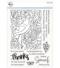 Pinkfresh Studio Clear Stamp Set 6x8\u0022-Let\u0027s Flamingle