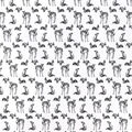 Snuggle Flannel Fabric -Sketched Woodland Animals