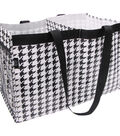 Two Lumps of Sugar Trunkey TLOS Trunk Tote-Black & White Houndstooth