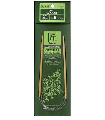 "Takumi Bamboo Circular Knitting Needles 24""-Size 6/4mm"