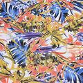Silky Print Rayon Fabric 53\u0027\u0027-Multicolored Tropical Flowers on White