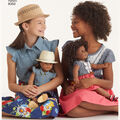 Simplicity Pattern 8350 Children\u0027s American Girl Dress-Size A (3-8)
