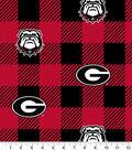 Georgia Bulldogs Fleece Fabric-Buffalo Plaid