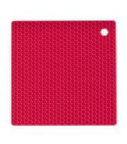 Wilton Square Silicone Trivet-Red, , hi-res