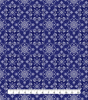 Keepsake Calico Cotton Fabric-Bandana Blue
