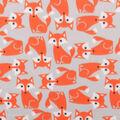Blizzard Fleece Fabric-Fox On Gray