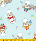 Snuggle Flannel Fabric -Baking Owls