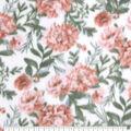 Anti-Pill Plush Fleece Fabric-Coral Floral