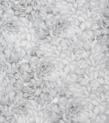 Keepsake Calico Cotton Fabric -White Packed Petals
