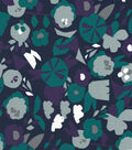 Quilter\u0027s Showcase Cotton Fabric 44\u0022-Grape Gray Abstract Floral