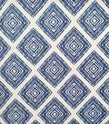 Endless Sea Stretch Modal Fabric 50\u0027\u0027-Blue Diamonds on White
