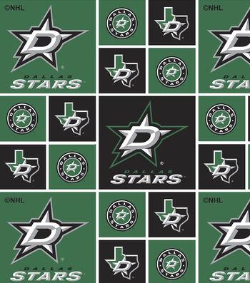 Dallas Stars Cotton Fabric 43''-Block