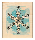 Penny Black Mounted Rubber Stamp 2.25\u0022X2.75\u0022-Scroll Snowflake