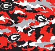 "University of Georgia Bulldogs Cotton Fabric 58""-Camo, , hi-res"