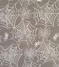 Doodles Halloween Interlock Cotton Fabric 57\u0022-Webs & Spiders