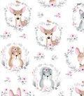 Nursery Cotton Fabric-Hazel Portrait Friends