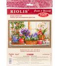 RIOLIS 15.75\u0027\u0027x9.75\u0027\u0027 Counted Cross Stitch Kit-Windowsill with Flowers