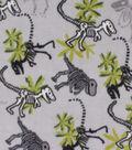 Anti-Pill Plush Fabric 58\u0022-Dinos on Gray