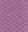Luxe Flannel Fabric -Scallops Gray Plum