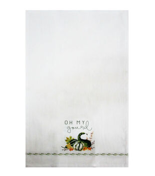 Simply Autumn Tip Towel-Oh My Gourd