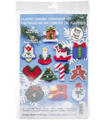 Country Christmas Ornaments Plastic Canvas Kit 2\u0022 7 Count Set Of 12