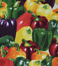 Novelty Cotton Fabric-Multi Bell Peppers