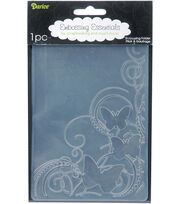 "Embossing Folder 4.25""X5.75""-Butterfly, , hi-res"