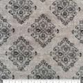 Luxe Fleece Fabric-Gray Diamonds