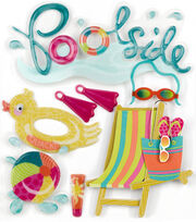 Jolee's Boutique 8 Pack 4'' x 4.25'' Stickers-Poolside, , hi-res