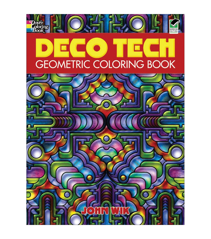 - Deco Tech Geometric Coloring Book