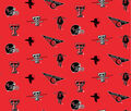 Texas Tech University Red Raiders Cotton Fabric -All Over