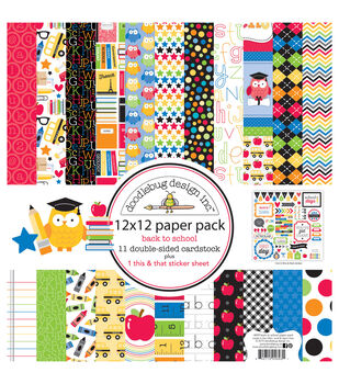 doodlebug back to school paper pack