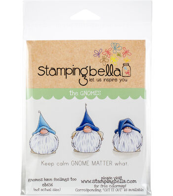 Stamping Bella 4 pk Rubber Cling Stamps-Gnomes have Feelings Too
