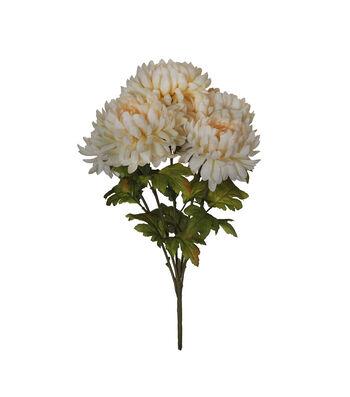 Blooming Autumn Water Resistant Mum Bush-Cream