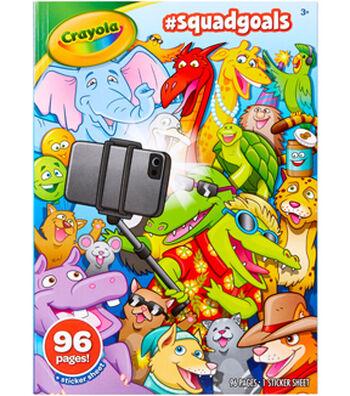 Crayola Coloring Book-Squad Goals
