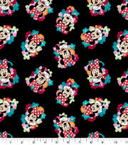 Disney Minnie Mouse Cotton Fabric-Tossed Floral, , hi-res