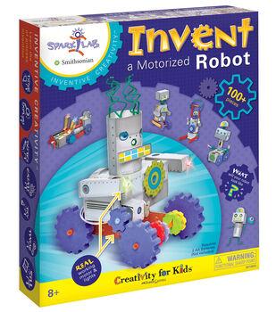Creativity for Kids Spark!Lab Invent a Motorized Robot Model Kit
